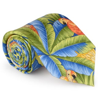 Tommy Bahama Men's Handmade Tropical Print Silk Tie