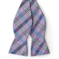 Tommy Bahama Men's Handmade Plaid Silk Bow Tie