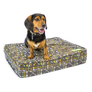Arrow Grey Gel Memory Foam Orthopedic Dog Bed with Waterproof Encasement and Durable Cotton Canvas Cover