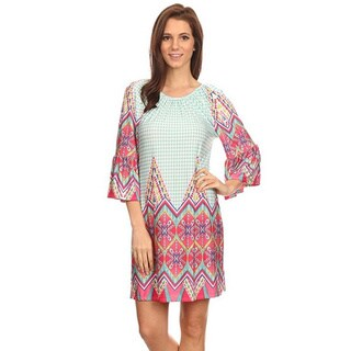 MOA Collection Multi-Color Abstract Dress
