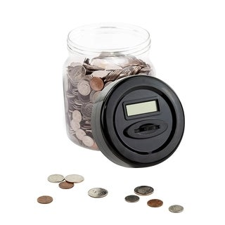 Digital Money Coin Counter Jar Electronic Piggy Bank With LCD Screen