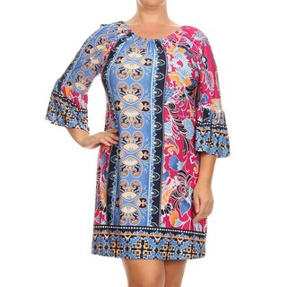 MOA Collection Plus Pattern Print Dress (More options available)