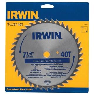 "Irwin 11140 7-1/4"" 40T Standard Combination Saw Blade"