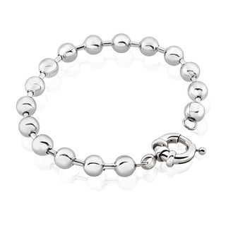 Ball Chain Bead Stainless Steel Bracelet - 8 inches (8mm Wide)