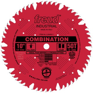 "Freud LU84R011 10"" 50T Industrial Combination Blade"