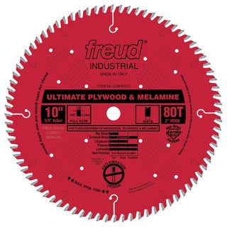 "Freud LU80R010 10"" 80T Finish Work Table Saw Blade"