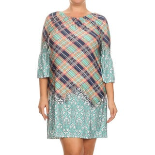 MOA Collection Plus Size Plaid Dress
