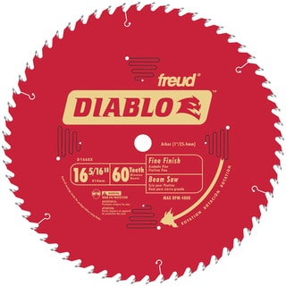 "Diablo D1660X 16-5/6"" 60T Diablo Fine Finish Work Beam Saw Blade"