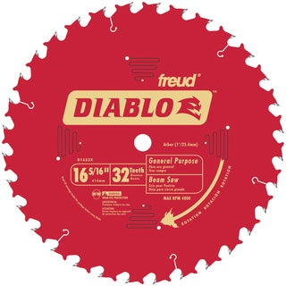 "Diablo D1632X 16-5/6"" 32T Diablo General Purpose Beam Saw Blade"