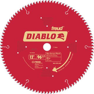 "Diablo D1296N 12"" 96T Diablo Non-Ferrous & Plastic Chop/Slide Miter Saw B
