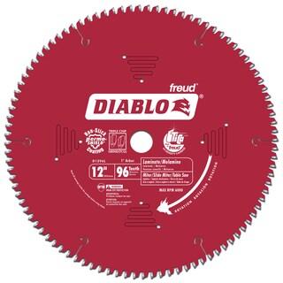 """Diablo D1296L 12"""" 96 TPI Laminate & Melamine, Slide Miter & Chop Saw Blade"""