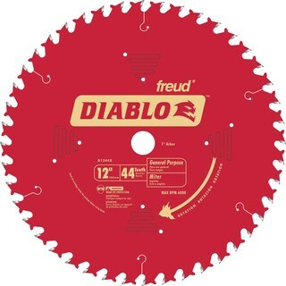 "Diablo D1244X 12"" 44T Diablo General Purpose Chop/Slide Miter Saw Blade"