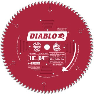 "Diablo D1084L 10"" 84T Laminate Chop/Slide Miter & Table Saw Blade"