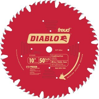 "Diablo D1050X 10"" 50T Diablo Combination Chop Miter & Table Saw Blade"