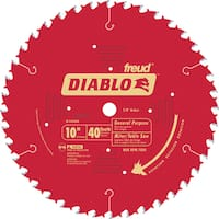 "Diablo D1040X 10"" 40T Diablo General Purpose Chop Miter and Table Saw Blad"