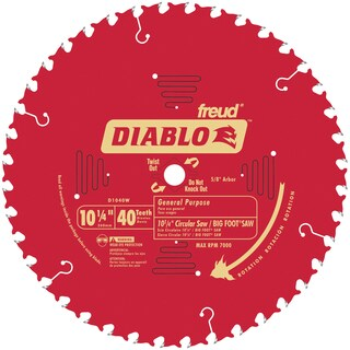 "Diablo D1040W 10-1/4"" 40T Diablo General Purpose Beam Saw Blade"