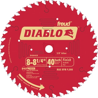 "Diablo D0840X 8-1/4"" 40T Diablo Finish Work Circular Saw Blade"