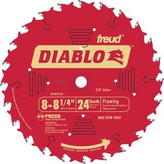 "Diablo D0824X 8-1/4"" 24T Diablo Circular Saw Framing Blade"