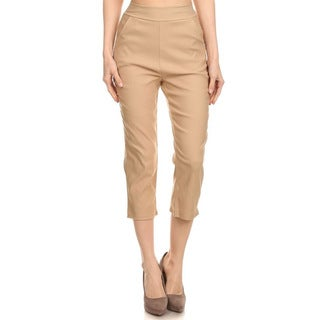 MOA Collection Women's Solid Cropped Pants