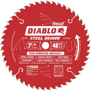 "Diablo D0748F 7-1/4"" 48 TPI Ferrous Metal Cutting Circular Saw Blade"