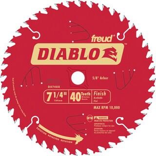 "Diablo D0740X 7-1/4"" 40T Diablo Finish Work Circular Saw Blade"