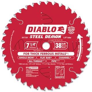 "Diablo D0738F 7-1/2"" 38T Steel Demon Ferrous Metal Cutting Circular Blade"