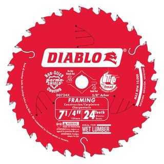 "Diablo D0724X 7-1/4"" Saw Blade With 24 Teeth"