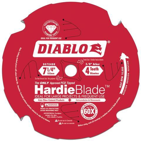"Diablo D0704DH 7-1/4"" PCD Tipped Diablo Circular Saw HardieBlade"
