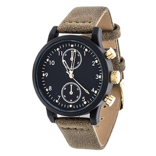Xtreme NYC Boyfriend Women's Black Case and Dial/ Brown Leather Strap Watch