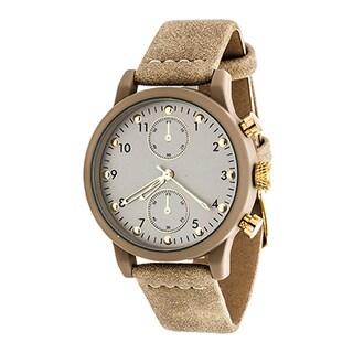 Xtreme Boyfriend Women's Beige Case and Dial/ Beige Leather Strap Watch