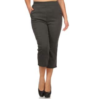 MOA Collection Plus Women's Cropped Pants|https://ak1.ostkcdn.com/images/products/11635876/P18569394.jpg?impolicy=medium