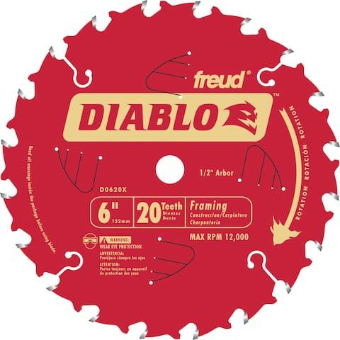 "Diablo D0620X 6"" 20T Diablo Porter Cable Saw Boss Blade"