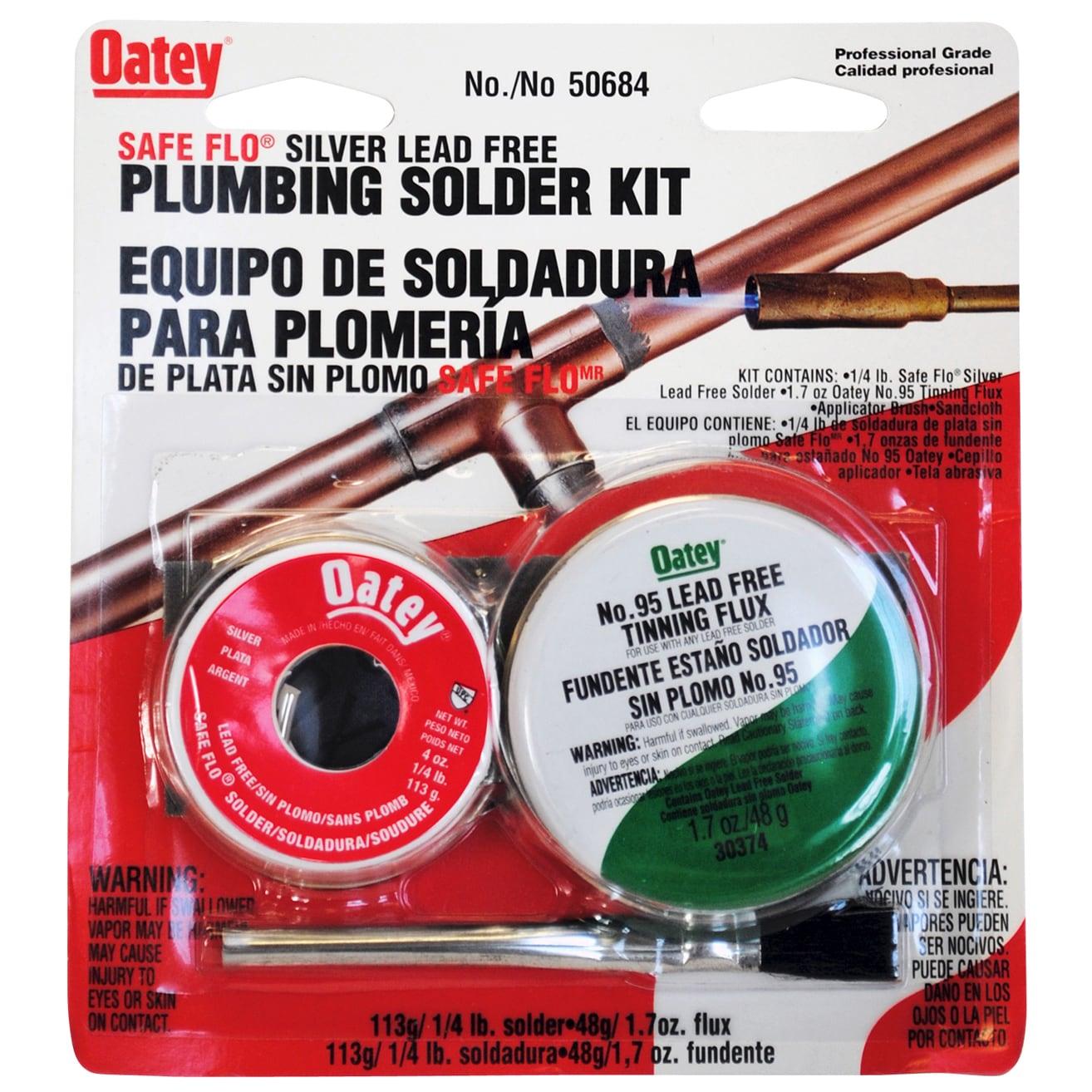Oatey 50684 Safe Flo Solder Kit (Welders/tools), Silver