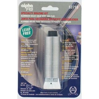 Alpha Fry AM53718 Lead Free Aluminum Wire Braze Solid Wire & Flux Kit