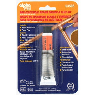 Alpha Fry AM53505 50/50 Solid Wire Solder & Flux