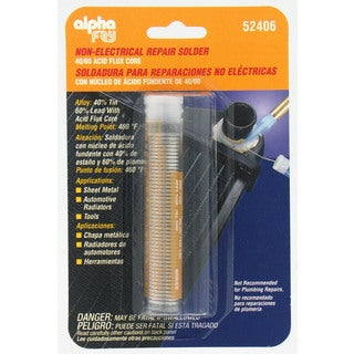 Alpha Fry AM52406 40/60 Acid Core Solder & Dispenser - Silver
