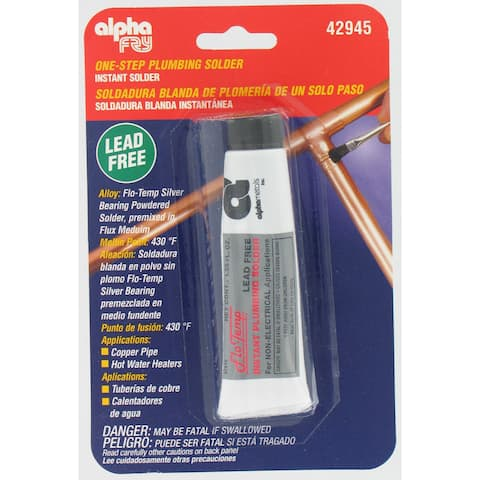 Alpha Fry AM42945 Flo-Temp Lead-Free Instant Plumbing Solder