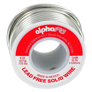 Alpha Fry AM23955 1/2 lb 95/5 Spool Lead-Free Solid Wire Solder