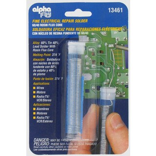 Alpha Fry AM13461 Very Fine Rosin Core Solder & Dispenser