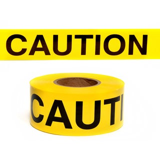 "Swanson BT30CAU2 3"" X 300' Yellow Barricade Tape"