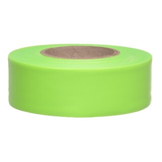 "Swanson CMLG15 1-3/16"" X 150' Lime Flagging Tape"