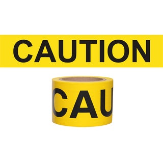 "Swanson BT200CWP3 3"" X 200' Yellow Barricade Tape"