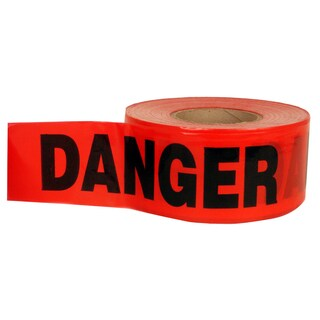 "Swanson BT100DGR2 3"" X 1,000' Red Barricade Tape"