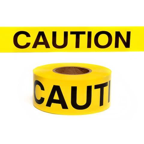 "Swanson BT100CAU2 3"" X 1,000' Yellow Barracade Tape"