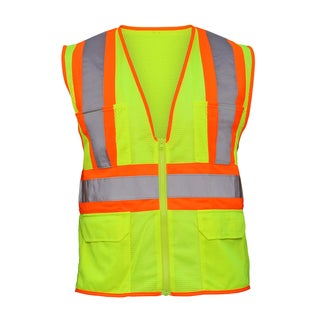 SAS Safety Corporation 690-2110 X Large Yellow Reflective Safety Vest