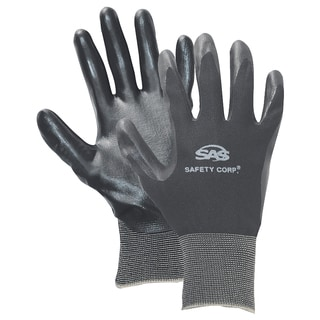 SAS Safety Corporation 640-1909 Large Black Nitrile Coated Gloves