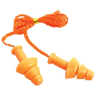 SAS Safety Corporation 6112 Silicone Corded Earplugs