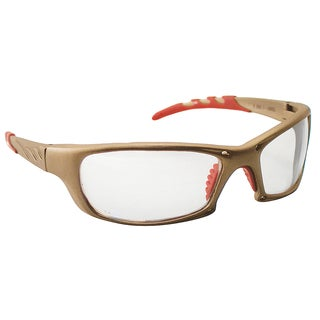 SAS Safety Corporation 542-0110 Clear Lens & Gold Framed Safety Eyewear Glasses