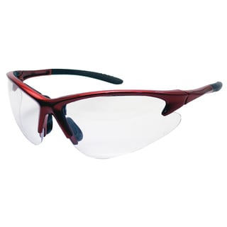 SAS Safety Corporation 540-0410 Red Frame With Clear Lens Safety Glasses