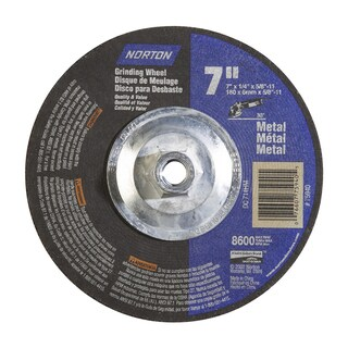 "Norton 75940 7"" X 1/4"" X 5/8""30° Metal Grinding Wheel"